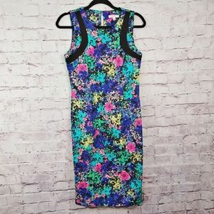 SPENSE Floral Watercolor Sheath Dress